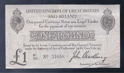 Great Britain, 1914, KGV, £1 Pound, P-349, CRISP VF!!
