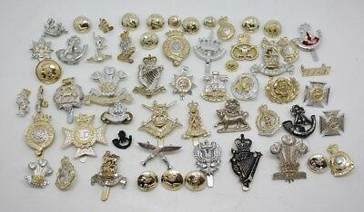 Collection of British Military Anodised (Staybrite) Badges & Buttons #35