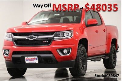 Chevrolet Colorado MSRP$48035 4X4 Z71 Diesel GPS Leather Red Hot Crew 4WD New Navigation Heated Seats Camera Bluetooth 17 2017 18 Cab Remote Start Mylink