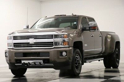 Chevrolet Silverado 3500 HD 4X4 High Country Diesel Sunroof Dually Crew 4WD Used 3500HD GPS Navigation Heated Cooled Leather DRW Duramax 16 15 2016 Cab