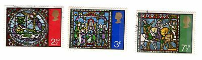 GB Stamps SG894-896 1971 Christmas. Multicoloured. Used