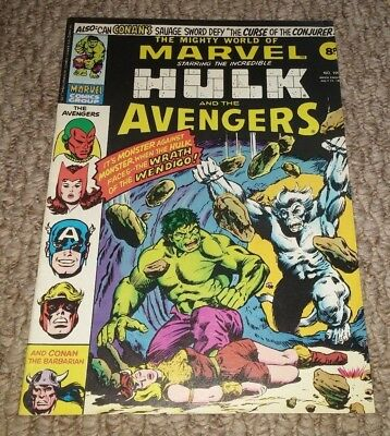 The Mighty World Of Marvel #199 Uk Comic 1976 1St Wolverine Marc Bolan Interview