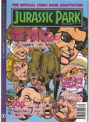 JURASSIC PARK - Official Comic Book Adaptation - Volume 1 Number 2 (Dark Horse)