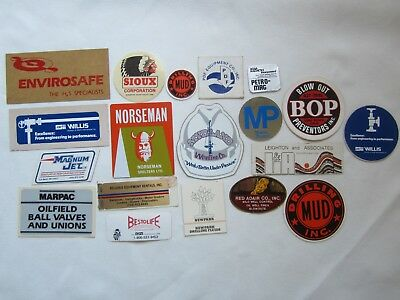Vtg OIL Field GAS TOOL STICKERS Decal 20 LOT Bundle FUEL Station Company RARE