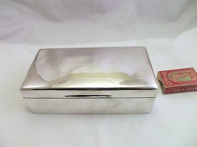 Large Solid Silver Cigarette Box - Walker And Hall  Sheffield 1924  No Engraving