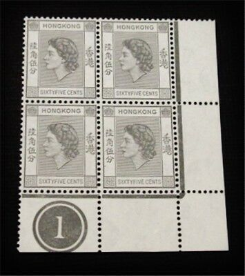 nystamps British Hong Kong Stamp # 193 Mint OG NH Plate Block Paid: $150