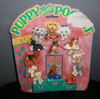 Puppy In My Pocket Puppy Super 10 Pack Dog Show Set 1993 Vivid Imaginations Bnib