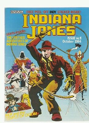 INDIANA JONES AND THE TEMPLE OF DOOM - Issue No. 1 (October 1984) Marvel Comics