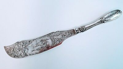Fabulous Engraved Fish Knife Mulford Wendell & Co Albany Ny Coin Silver