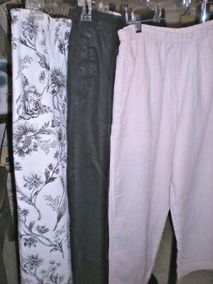 LOT of VINTAGE LINEN Beach Pants by KIKO HOT COTTON &  DAVID DART  High Waist  M