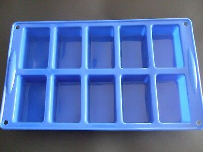 Silicone Mould 10 Cavity Cake Bar, Mini Loaf, Flapjack Tray, Sponge Tin