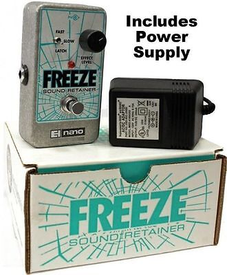 NEW Electro Harmonix Freeze Sound Retainer Sustain Sustainer Pedal w/ Power EHX