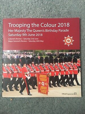 Trooping the Colour 2018 Official Programme -The Queen's Birthday Parade.