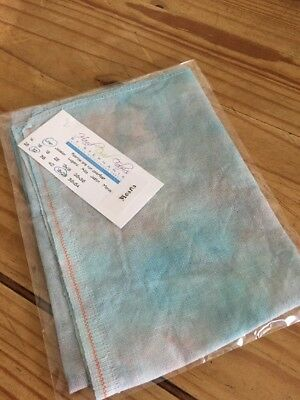 "Hand Dyed Cross Stitch Fabric 32 Count Linen 18x26"" Hand Dyed By Stephanie"