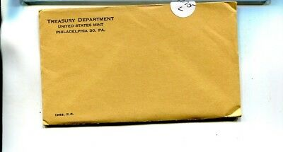 1963 United States 5 Coin Silver Proof Set Original  Sealed Envelope 1275L