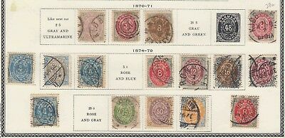 Denmark Collection Lot Mounted 1870+ $380 Scv