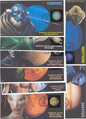 Jvc Cachets - 2016 Views Of Our Planets Issue Fdc First Day Covers - Set Of 8