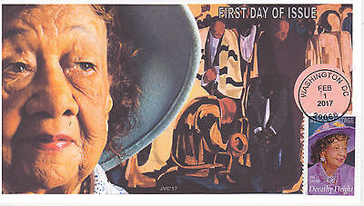 Jvc Cachets - 2017 Dorothy Height First Day Cover Fdc Black Heritage Style #1