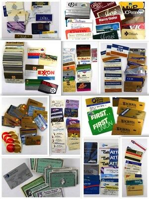 250+ Vintage Expired Credit Card Collection Lot NO RESERVE Bank Gas Store