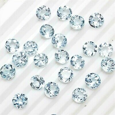 Wholesale Lot 8x8mm Round Facet Cut Natural Blue Topaz Loose Calibrated Gemstone