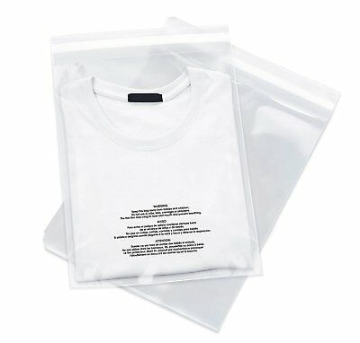 200 6x9 Poly Bags Resealable Suffocation Warning Clear Merchandise 1.5 mil 100 2