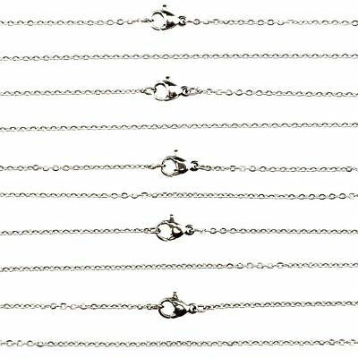 """K- 24"""" Dull Silver Stainless Steel Chain Necklace 1.6mm 60cm  (Bulk 10pcs!)"""