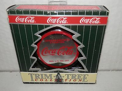 Cocal-Cola Trim A Tree Collection Bottle Cap with Polar Bear Ornament #05105 NIB