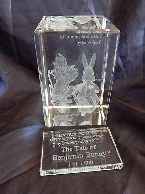 Limited Edition Beatrix Potter Crystal Treasures Paperweight By Country Artists