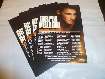 """MARTI PELLOW (WET WET WET) - """"THE PRIVATE COLLECTION TOUR 2018"""" (4 x FLYERS)"""