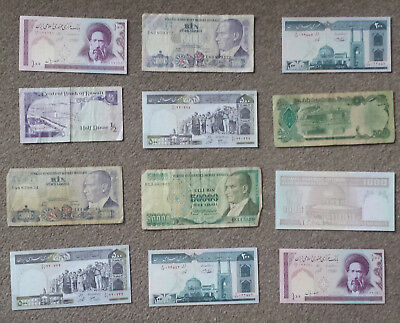 Middle east Banknotes x12