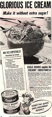 1945 Good Housekeeping Magazine Advertisement Borden's Eagle Brand 1 Page AD 298