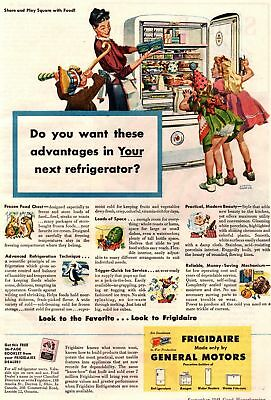 1945 Good Housekeeping Magazine Advertisement Frigidaire 1 Page AD 299