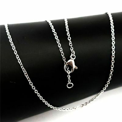 """K- 16"""" Dull Silver Stainless Steel Chain Necklace 1.6mm 40cm  (Bulk 10pcs!)"""