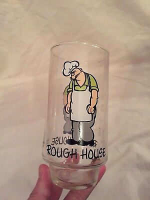 VINTAGE 1975 Coca Cola Collector Glass ROUGH HOUSE Popeye Series COOL