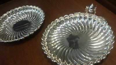 "300g ELEGANT SET 2 CENTERS FLUTED ""GALLONE"" STYLE STERLING SILVER: Pasgorcy HM"
