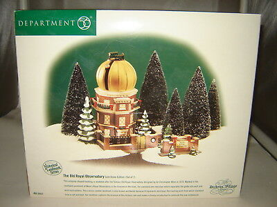 Dept 56 Dickens Village - The Old Royal Observatory w/ Gold Dome - Mint