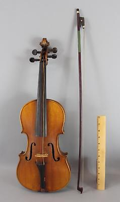 Antique Early 20thC German HB Concert, Figured Maple 4/4 Strad Violin