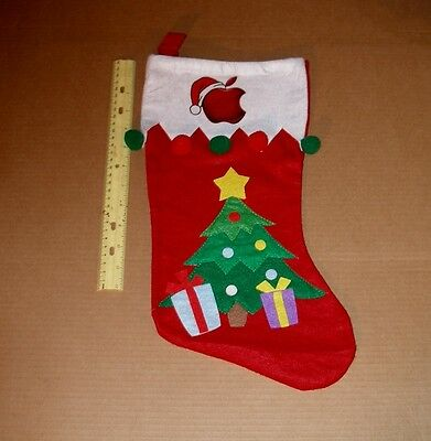 Apple Computer Logo Christmas Tree Stocking -