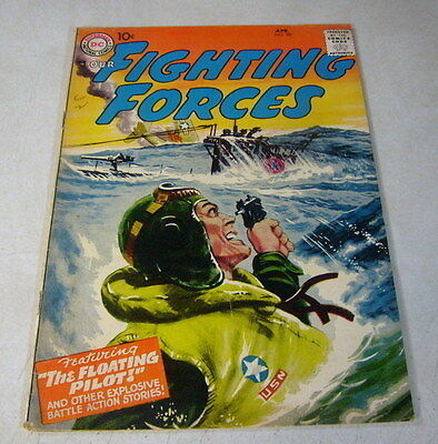 Our Fighting Forces #20 War, Floating Pilot, 1957, Dc