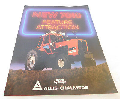 Vintage Allis-Chalmers 7010 Tractor Trifold Brochure