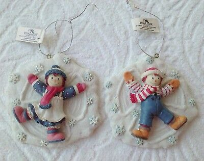 Raggedy Ann & Andy Snowflake Snow Angel Ornament Simon Schuster Inc Kur S Adler