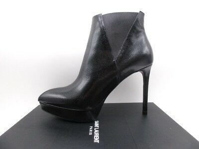 efe54bb85b7 YSL Yves Saint Laurent Janis 80 Chelsea Ankle Boots Booties 38.5 8.5