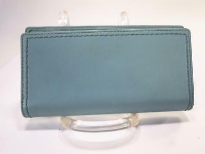 Coach Legacy Light Blue Leather Check  Book Holder*