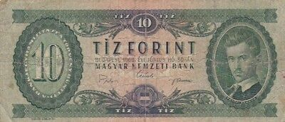 1969 Hungary 10 Forint Note, Pick 168d
