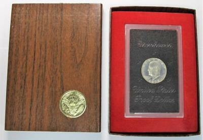 1972-S Proof Eisenhower Dollar * 40% Silver * In Plastic Holder * In Box