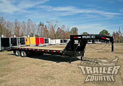 New 2018 10 Ton 30' Flat Bed Deck Over Equipment Dual Axle Gooseneck Trailer 20K