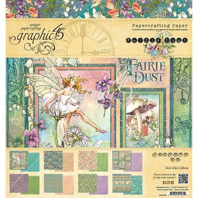 """Graphic 45 - FAIRIE DUST - 8x8"""" Scrapbooking Paper Pad - 24 sheets"""