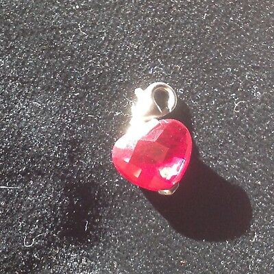Thomas szabo ruby red heart charm necklace pendant with clip very pretty