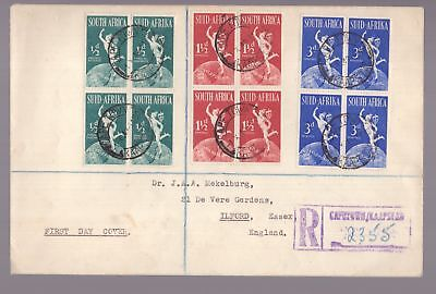 South Africa 1949 registered FDC see scans x 2