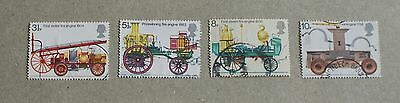 Complete GB used stamp set: 1974 Fire Prevention Act Bicentenary